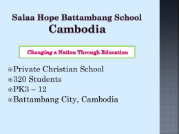 Salaa Hope Battambang School Education