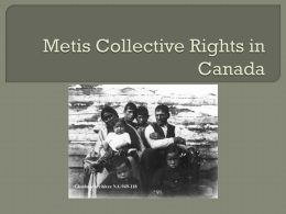 Metis Collective Rights in Canada