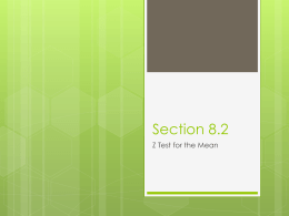 Section 8.2 z-test - Saluda County School District 1