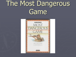 The Most Dangerous Game - LC