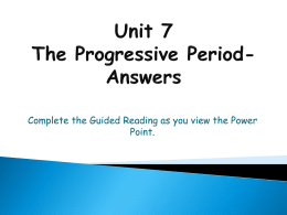 Unit 7 Power Point Notes