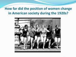 Women in 1920s USA