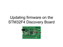 Updating firmware on the STM32F4 Discovery