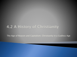 4.2 The Age of Reason and Capitalism in a Godless State