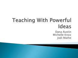 Teaching With Powerful Ideas