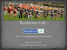 Residence Life - Algonquin College