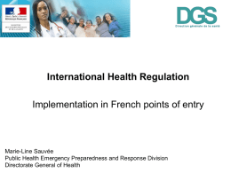 法国:international health regulation implementation in French points