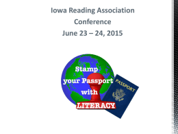 Jennifer Serravallo - Iowa Reading Association