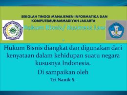 Hukum Bisnis/ Business Law.