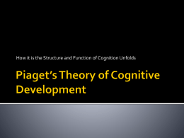 Piaget*s Theory of Cognitive Development