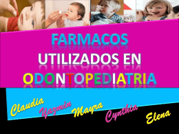 Farmacos usados en odontopediatria