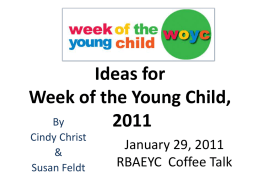 Ideas for Week of the Young Child