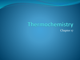 Thermochemistry - JH Rose