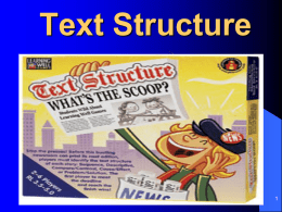 Text Structure 2013