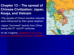 Chapter 13 – The spread of Chinese Civilization