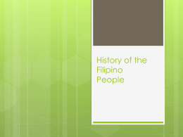History of the Filipino People