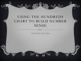 Using the hundreds chart to build number sense