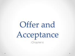 Offer and Acceptance Law class