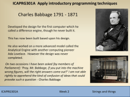 ICAPRG301A Apply introductory programming techniques