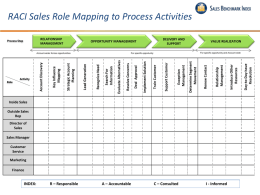 RACI Sales Role Mapping to Process Activities