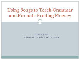 Using Songs and Raps to Teach Grammar