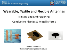 Wearable Textile and Flexible Antennas