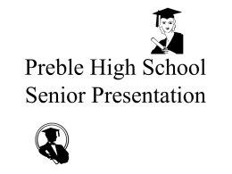 Preble High School Senior Presentation