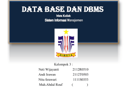Kel 3 – Database dan DBMS