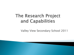 The Research Project and Capabilities PowerPoint