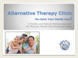 Alternative Therapy Clinic Re