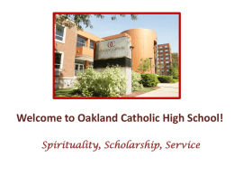 March 12 Uploaded @ 02:59 AM - Oakland Catholic High School