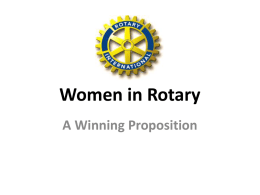 Recruiting Women in Rotary - Nancy Smith Power