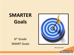 SMART Goals are - Ramp