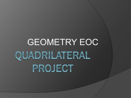 Special Quadrilateral Project