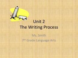 Unit 2 The Writing Process