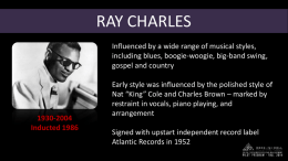 Ray Charles PowerPoint (.ppt)