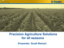 Presicions Agriculture Solutions for All Seasons
