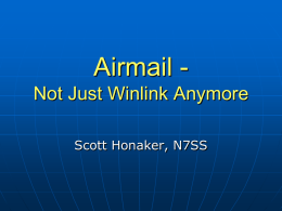 Airmail - Not Just Winlink Anymore