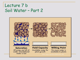 Water Movement in Soil