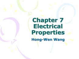 Chapter 7 Electrical Properties Hong