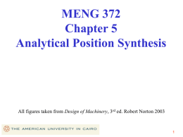 Two Position Synthesis