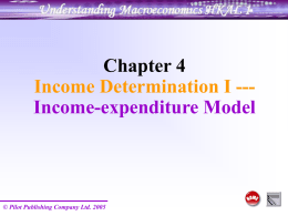 Ch 4 Income-expenditure model