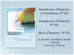 Introductory Chemistry: A Foundation Introductory Chemistry Basic