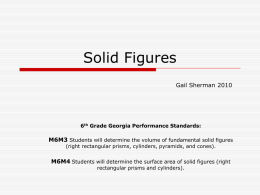 Solid Figures - Troup 6