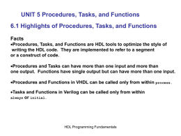 UNIT 5 Procedures, Tasks, and Functions - KIT