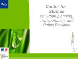 Center for Studies on Urban planning - SUMPA-MED