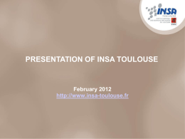 presentation of insa toulouse