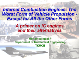 PowerPoint Presentation - Why IC engines?