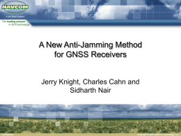A New Anti-Jamming Method for GNSS Receivers
