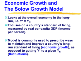 The Solow Growth Model and Economic Growth
